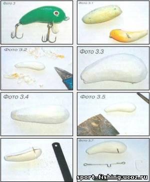 как делать воблеры из пенопласта